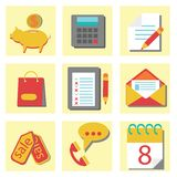 Set of flat icons for web design. Colorful illustration with  set of flat icons for web design on a white background Royalty Free Stock Photography
