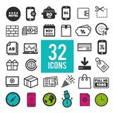 Set of flat icons for web and mobile app on white background. Collection modern infographic logo and pictogram. Eps10 royalty free illustration