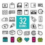 Set flat icons, for web and mobile apps, interface design. Eps10. Set flat icons, for web and mobile apps, interface design. Eps10 Vector Stock Photography