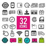 Set of flat icons for web, mobile apps and interface design. Eps10 Vector stock illustration