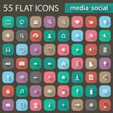 Set of flat icons for web Royalty Free Stock Photography