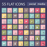 Set of flat icons for web Royalty Free Stock Images