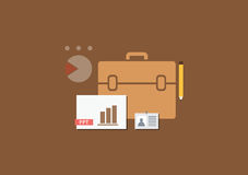 Set of flat illustration design business presentat Royalty Free Stock Photos
