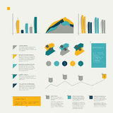 Set of flat infographic elements. Stock Photos