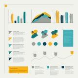 Set of flat infographic elements. Stock Photos