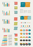 Set of flat infographic elements. Royalty Free Stock Photo