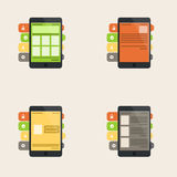Set of flat  interface concept for web and mobile phone services Royalty Free Stock Photography