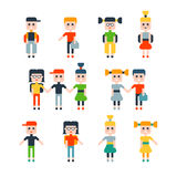 Set of flat isolated children Royalty Free Stock Photography