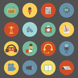 Set of flat journalism icons Stock Photography