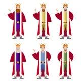 Set of flat king ikons Stock Image