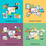 Set of flat line concept of business planning, business startup. Business analysis, business strategy, analytics, mangement, corporate business team. Web Royalty Free Stock Images