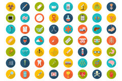 Set of flat Medical icons Royalty Free Stock Photos