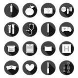 Set of flat medical icons. Health care concept Stock Photo