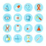 Set of flat  medical icons. Stock Photos