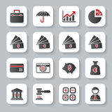 Set of flat modern banking web icons Stock Images