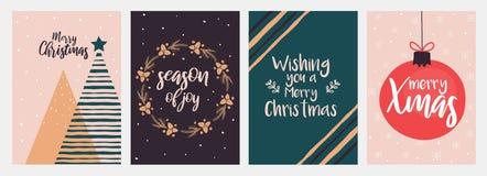 Christmas cards design stock illustration