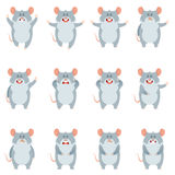 Set of flat mouse icons Stock Images