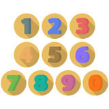 Set of flat numbers. Royalty Free Stock Image