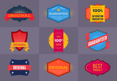 Set of flat Original and Premium labels Royalty Free Stock Photos