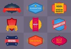 Set of flat Original and Premium labels Royalty Free Stock Photos
