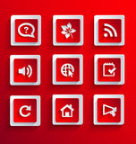 Set of flat paper icons Royalty Free Stock Photo