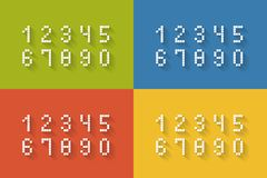 Set of flat pixel numbers Royalty Free Stock Photos
