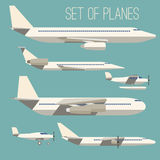 Set of flat planes Royalty Free Stock Photography