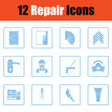 Set of flat repair icons Royalty Free Stock Photo