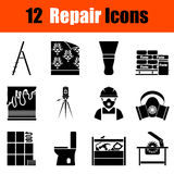 Set of flat repair icons Stock Photography