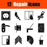 Set of flat repair icons Royalty Free Stock Photos
