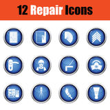 Set of flat repair icons. Vector illustration Stock Photo
