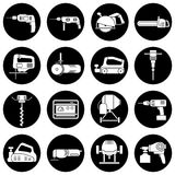 Set of flat repair tool icons. Stock Photography
