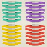 Set Flat Ribbons Royalty Free Stock Images