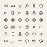 Set of Line Business Icons Royalty Free Stock Photography