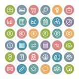 Set of Flat Round Business Icons Stock Image