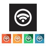 Set of flat rss icons,  illustration Stock Image