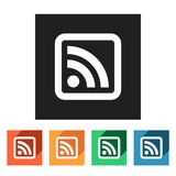 Set of flat rss icons,  illustration Stock Images