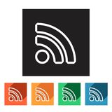 Set of flat rss icons,  illustration Stock Photography