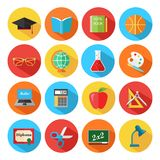 Set of flat school and education icons set. Vector illustration vector illustration