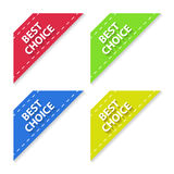 Set of Flat Signs Best Choice. Vector Royalty Free Stock Photo