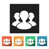 Set of flat simple icons (businessmen, workmen),  Royalty Free Stock Photo