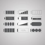 Set of flat simple web icons vector Royalty Free Stock Images