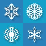 Set of flat snowflakes icons, vector illustration Royalty Free Stock Image