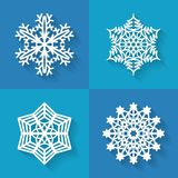 Set of flat snowflakes icons, vector illustration. Set of snowflakes iconsin flat style, vector illustration Royalty Free Illustration