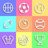 Set of flat Sports icons Royalty Free Stock Images