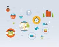 Set of Flat Style Icons. Online marketing, custom Stock Image