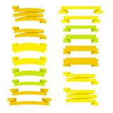 Set of flat style ribbons, in vector.  Royalty Free Stock Photos