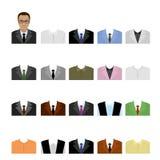Set templates business suits Stock Image