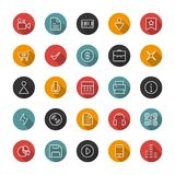 Set of flat thin icons. Style lines. Vector collection. Royalty Free Stock Photos