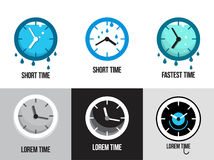 Set of flat time logos and icons Royalty Free Stock Images